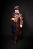 Mężczyzna ubierający w stylu steampunk Obraz Royalty Free