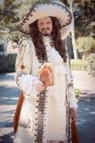Mężczyzna ubierający w wiktoriański odziewa Zdjęcia Stock