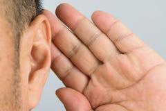 Mężczyzna ucho obraz stock