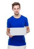 Mężczyzna use laptop Obraz Royalty Free