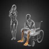 mężczyzna wózek inwalidzki Zdjęcia Royalty Free
