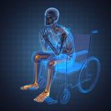mężczyzna wózek inwalidzki Zdjęcie Royalty Free
