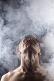 Mężczyzna w abstrakta dymu Zdjęcie Royalty Free