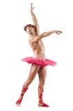 Mężczyzna w baletniczej spódniczce baletnicy Fotografia Royalty Free