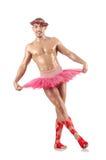 Mężczyzna w baletniczej spódniczce baletnicy Obrazy Royalty Free