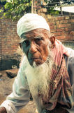 Mężczyzna w bielu w Bangladesz Zdjęcia Stock