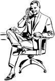 Mężczyzna w biurowym krześle ilustracja wektor