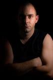 Mężczyzna w cieniu zdjęcia stock