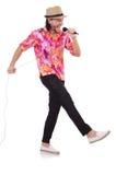 Mężczyzna w colourful koszula odizolowywającej na bielu Zdjęcie Stock