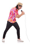 Mężczyzna w colourful koszula odizolowywającej na bielu Zdjęcia Stock