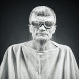 Mężczyzna w czarnych szkłach Fotografia Royalty Free