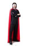 Mężczyzna w czerwieni pokrywie Zdjęcia Stock