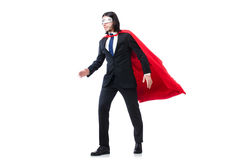 Mężczyzna w czerwieni pokrywie Zdjęcie Stock