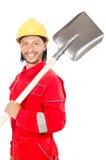 Mężczyzna w czerwonych coveralls Obraz Stock