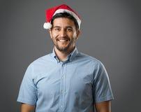 Mężczyzna w czerwonym kapeluszu Obraz Stock
