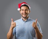 Mężczyzna w czerwonym kapeluszu Zdjęcia Royalty Free