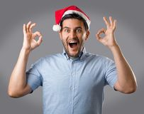 Mężczyzna w czerwonym kapeluszu Fotografia Stock