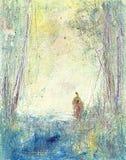 Mężczyzna w drewnach Obraz Stock