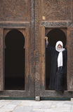 Mężczyzna w drzwi Obraz Royalty Free