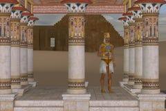Mężczyzna w egipcjaninie Odziewa royalty ilustracja