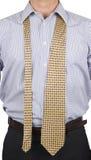 Mężczyzna w garniturze z luźnym krawatem Obrazy Royalty Free