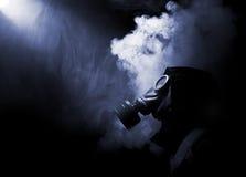 Mężczyzna w gasmask Obrazy Royalty Free
