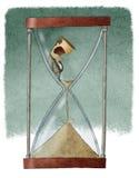 Mężczyzna w hourglass Obraz Stock