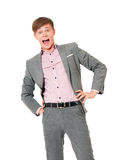 Mężczyzna w kostiumu Obraz Royalty Free