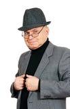 Mężczyzna w kostiumu i kapeluszu. zdjęcie royalty free