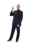 Mężczyzna w kostiumu ok znaku Obrazy Royalty Free