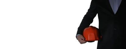 Mężczyzna w kostiumu z hełma zbliżeniem Zdjęcia Royalty Free
