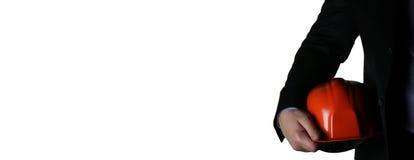 Mężczyzna w kostiumu z hełma zbliżeniem Obrazy Royalty Free