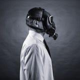 mężczyzna w masce gazowej Zdjęcie Stock