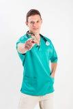 Mężczyzna w medycznym mundurze Fotografia Royalty Free