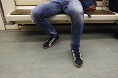 Mężczyzna w metrze Fotografia Stock