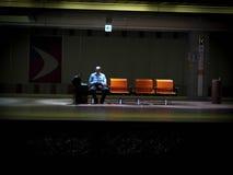 Mężczyzna w metrze obrazy stock