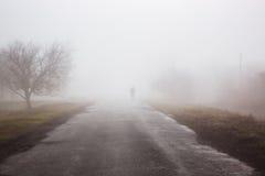 Mężczyzna w mgle Obraz Royalty Free