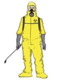 Mężczyzna w ochronnym kostiumu Obraz Royalty Free