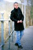 Mężczyzna w płaszczu zdjęcie stock
