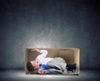 Mężczyzna w pudełku Zdjęcie Stock