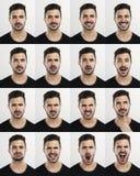 Mężczyzna w różnych nastrojach zdjęcia stock