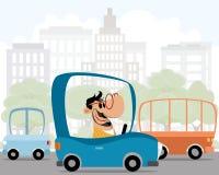 Mężczyzna w samochodzie ilustracji