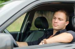Mężczyzna w samochodzie Zdjęcia Royalty Free