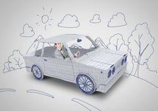 Mężczyzna W Samochodzie Obrazy Royalty Free