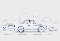 Mężczyzna W Samochodzie Fotografia Stock