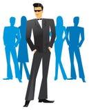 Mężczyzna w smokingu w przyjęciu Ilustracji