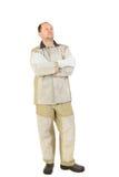 Mężczyzna w spawie odziewają. Obraz Royalty Free