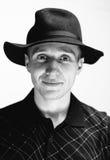 Mężczyzna w starym kapeluszu Zdjęcia Royalty Free