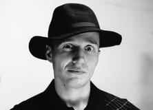 Mężczyzna w starym kapeluszu Zdjęcia Stock