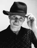 Mężczyzna w starym kapeluszu Fotografia Royalty Free
